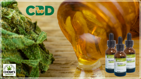 Medical CBD and resin oil in apothecary